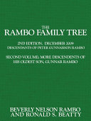 The Rambo Family Tree: More descendents of his oldest son, Gunnar Rambo