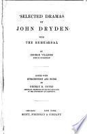 Selected Dramas of John Dryden