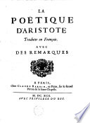 La Poetique D'Aristote : ...