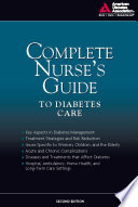 Complete Nurse s Guide to Diabetes Care