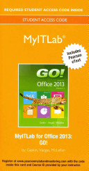 Myitlab with Pearson Etext    Access Card    For Go  with Office 2013
