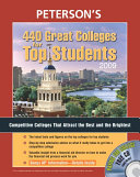 Peterson s 440 Great Colleges for Top Students 2009 Book PDF