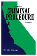 California Criminal Procedure
