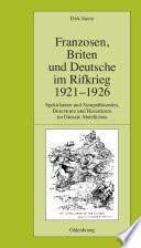 Franzosen  Briten und Deutsche im Rifkrieg 1921 1926