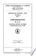 Religious Bodies  1936  Summary and detailed tables