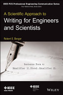 A Scientific Approach to Writing for Engineers and Scientists Solid Or Even Groundbreaking But