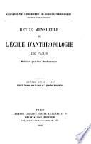 Revue mensuelle de l   cole d Anthropologie de Paris