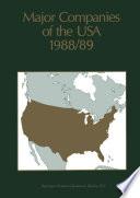 Major Companies of the USA 1988/89