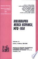 Bibliographia medica hispanica, 1475-1950 (IV): Libros y folletos, 1801-1850