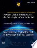 Revista Digital Internacional de Psicología y Ciencia Social | Vol. 3 | Num. 2 | 2017