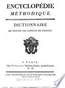 Encyclop  die M  thodique  Dictionnaire de toutes les esp  ces de chasses
