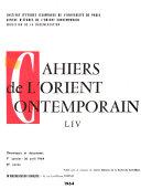 Cahiers De L Orient Contemporain