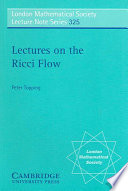 Lectures on the Ricci Flow