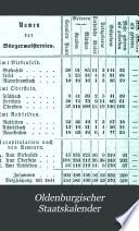 Oldenburgischer Staatskalender