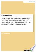 Die Vor- und Nachteile einer bestimmten Ansprachekultur in Unternehmen zur Ableitung von Handlungsempfehlungen für die Meyer-Potz Verwaltungs GmbH