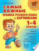 Самые важные правила русского языка с картинками. 1-4 классы