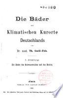 Die Bäder und Klimastischen Kurorte Deutschlands
