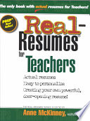 Real Resumes For Teachers