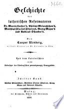 Geschichte der evangelisch-lutherischen Reformatoren