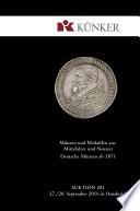 K  nker Auktion 281   M  nzen und Medaillen aus Mittelalter und Neuzeit   Deutsche M  nzen ab 1871  Herbst Auktionen 2017