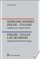 Dizionario giuridico inglese italiano