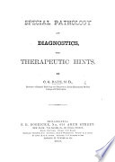 Special Pathology and Diagnostics  with therapeutic hints