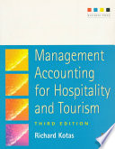 Management Accounting for Hospitality and Tourism Free download PDF and Read online