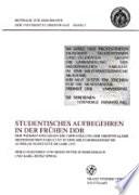 Studentisches Aufbegehren in der frühen DDR