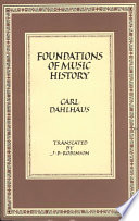 Foundations Of Music History book