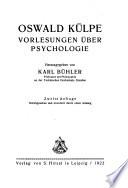 Vorlesungen   ber Psychologie