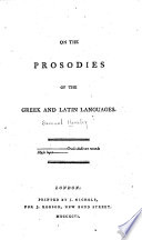 On the prosodies of the Greek and Latin languages