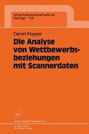 Die Analyse von Wettbewerbsbeziehungen mit Scannerdaten