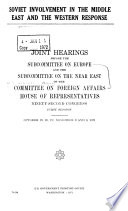 Soviet Involvement in the Middle East and the Western Response Book PDF