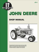 John Deere Shop Manual Series A B G H Models D M