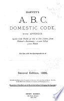 Harvey s A  B  C  Domestic Code  with Appendix Book PDF