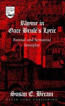 Rhyme in Gace Brulé's Lyric