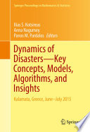 Dynamics Of Disasters Key Concepts Models Algorithms And Insights