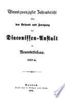 Jahresbericht der Evang.-Luth. Diakonissenanstalt Neuendettelsau0