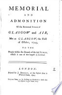 Memorial And Admonition Of The Reverend Synod Of Glasgow And Air book