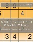 Sudoku Very Hard Puzzles Volume 2