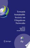Towards Sustainable Society on Ubiquitous Networks