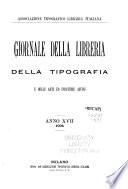 Giornale della libreria  della tipografia  e delle arti ed industrie affini