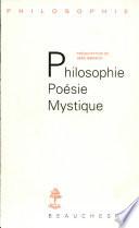 illustration Philosophie, poésie, mystique