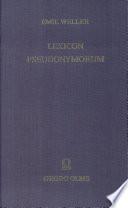 Lexicon pseudonymorum