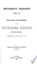 Minnesota Reports Book PDF