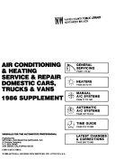 Air conditioning & heating service & repair, domestic cars, trucks & vans