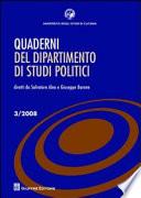 Quaderni del dipartimento di studi politici (2008)