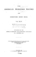 The American Hereford Record and Hereford Herd Book