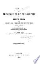 Revue de th  ologie et de philosophie