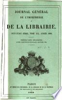 Journal g  n  ral de l imprimerie et de la librairie